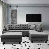 102 Right Hand Facing Modular Corner Sectional with Ottoman by Latitude Run