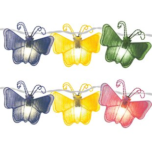 The Holiday Aisle Butterfly 10 Light Novelty String Light