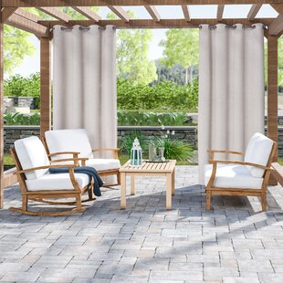 Elaina 3 Piece Teak Sofa Set with Cushions