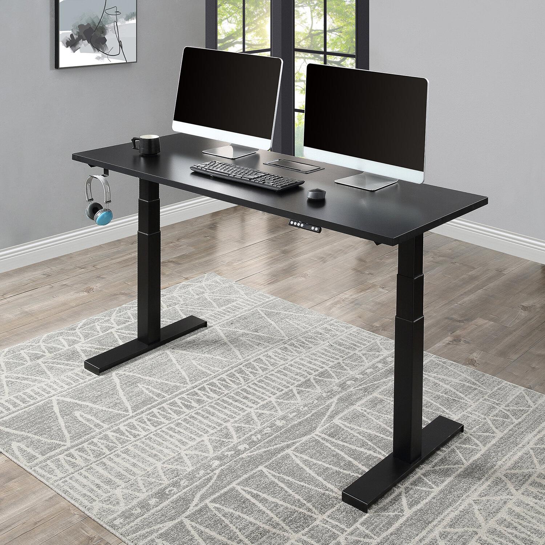 Inbox Zero Home Office Height Adjustable Gaming Standing Desk Wayfair