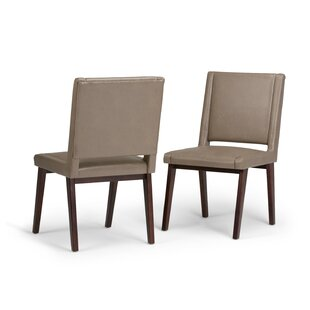 Simpli Home Draper Mid Century Deluxe Upholstered Dining Chair (Set of 2)