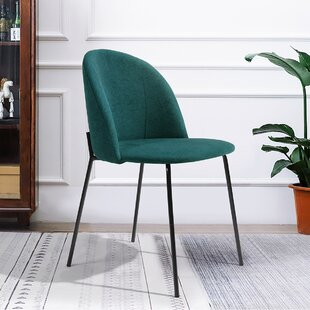 Solis Upholstered Side Chair in Green Set of 2