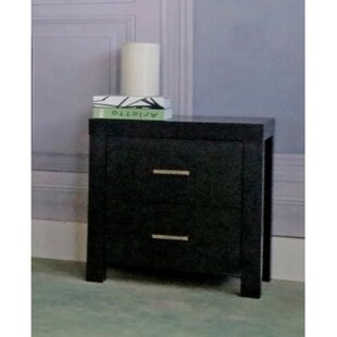 Paniagua Sophisticated 2 Drawer Nightstand by Orren Ellis