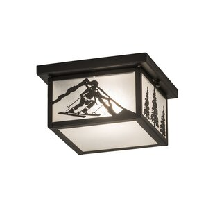 Yother 1-Light Flush Mount by Loon Peak