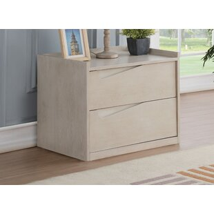 Ophir Contemporary 2 Drawer Nightstand