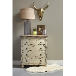 Lauier Distressed Two Tone 4 Drawer Accent Chest