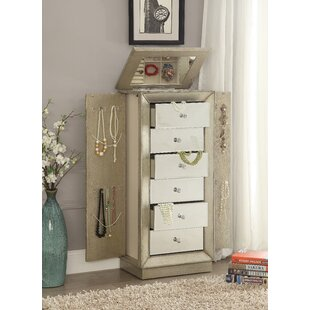 Alcott Hill Streeter Jewelry Armoire with Mirror