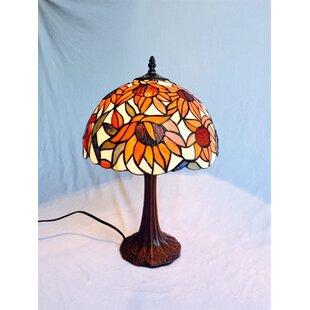 Crosbie Sunflower Tiffany 18 Table Lamp
