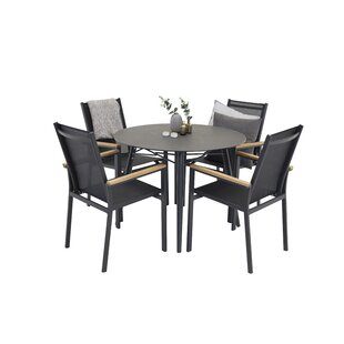 Review Donelson Dining Set With 4 Chairs