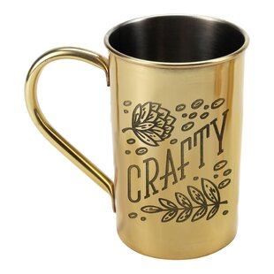 Stainless Steel in Metallic Crafty 23 oz. Beer Stein