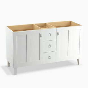 Poplin™ 60 Vanity Base Only with Furniture Legs, 2 Doors and 3 Drawers By Kohler