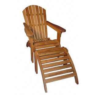 Regal Teak Teak Adirondack Chair with Ottoman