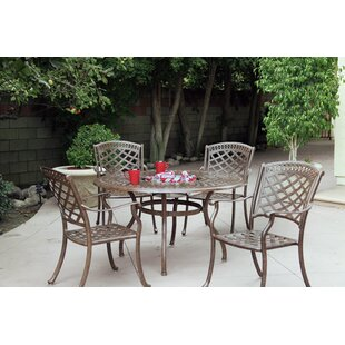Thompson 5 Piece Dining Set with Cushions