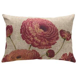 Fermin Floral Linen Throw Pillow