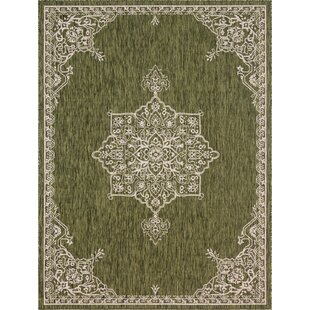 Crabill Green/Gray Indoor/Outdoor Area Rug
