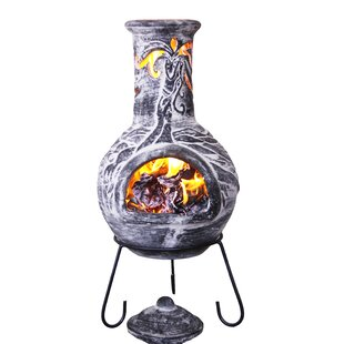 Wyre Clay Wood Burning Chiminea By Gardeco