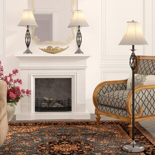 Andover Mills Dunrobin 3 Piece Table and Floor Lamp Set