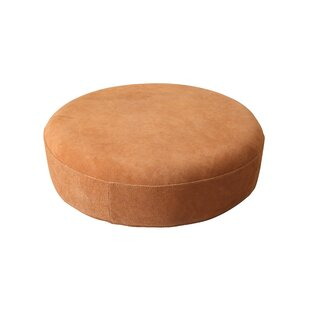 Norene Leather Pouf by Union Rustic