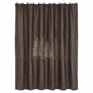 Polson Single Shower Curtain with Embroidered Tree Design
