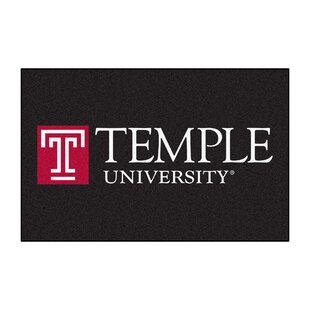 Collegiate Temple University Starter Hand-Woven Black Area Rug By FANMATS