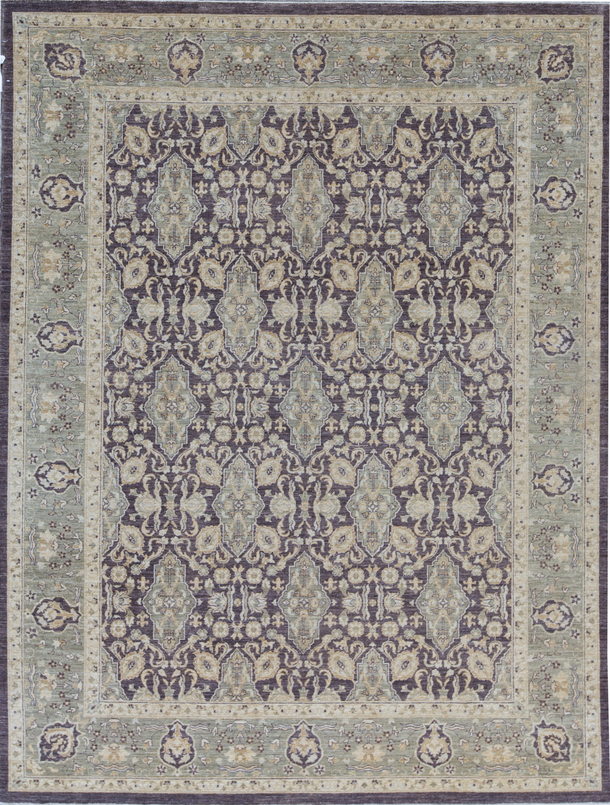 Bokara Rug Co Inc Ziegler Oriental Hand Knotted Wool Brown Green Area Rug Wayfair