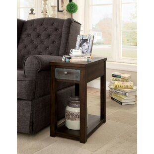 Prout Spacious Rectangular End Table with Storage