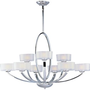 Red Barrel Studio Ellisville 9-Light Shaded Chandelier