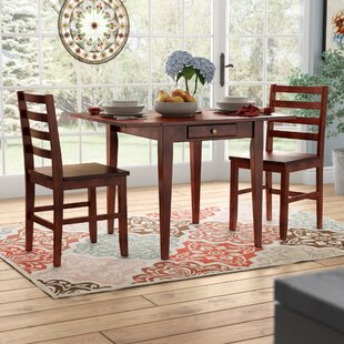 Arjun 3 Piece Drop Leaf Dining Set Red Barrel Studio