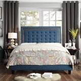 Rawley Tufted Upholstered Standard Bed by Charlton Home®