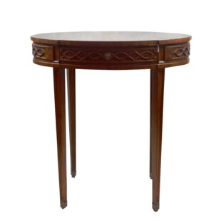 Mahogany and Parquetry Oval Occasional End Table