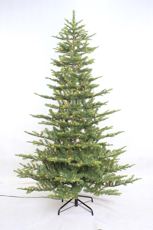 aspen 75 green fir artificial christmas tree with 700 warm white lights with stand - Artificial Christmas Trees With Lights