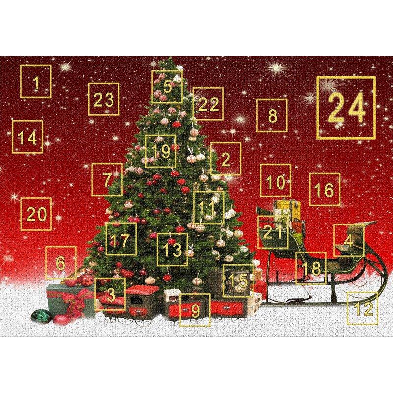 East Urban Home Advent Calendar Red Area Rug Wayfair