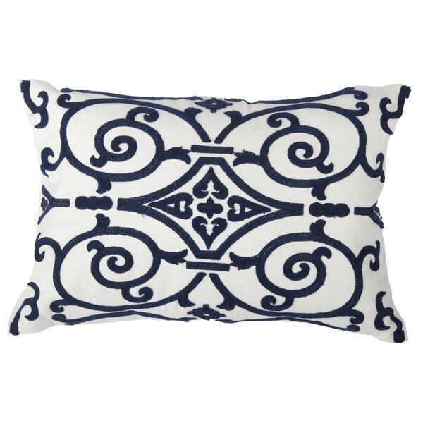 Highland Dunes Connors Embroidered Cotton Lumbar Pillow