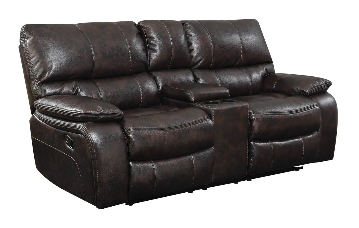 top with console best furnishings reclining casual home rocker black leather recliner loveseat rocking