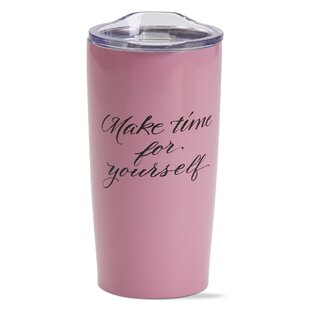 Make Time Double Wall Stainless Steel 18 oz. Insulated Tumbler