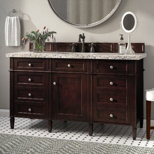 Deleon 60 Single Burnished Mahogany Granite Top Bathroom Vanity Set By Darby Home Co
