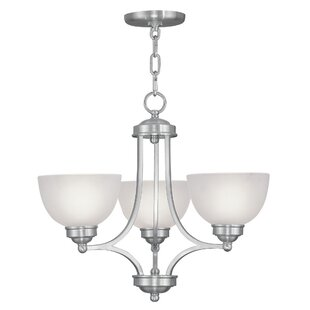 Irwin Contemporary 3-Light Shaded Chandelier by Alcott Hill