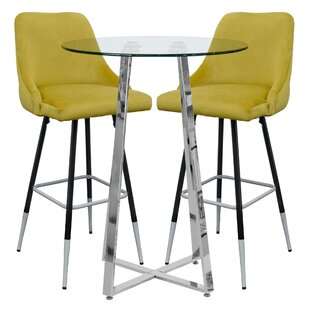 Lafever Dining Set With 2 Chairs By Wade Logan