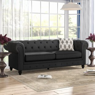 Whitesburg Rolled Arm Chesterfield Sofa
