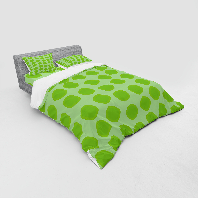 East Urban Home Lime Green Duvet Cover Set Wayfair