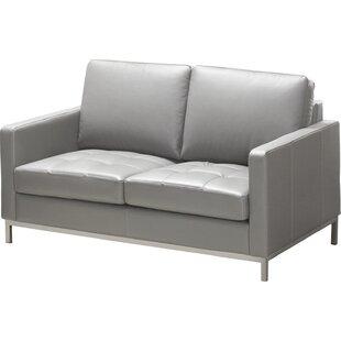 Lind Furniture 244 Series Regency Leather Loveseat
