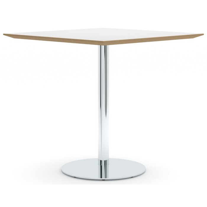 30 Square Clic High Table On Pedestal Base