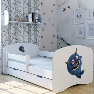 Blue Monster Bed With Mattress And Drawer By Zoomie Kids