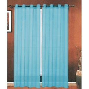 Solid Sheer Grommet Single Curtain Panel By Elegant Comfort