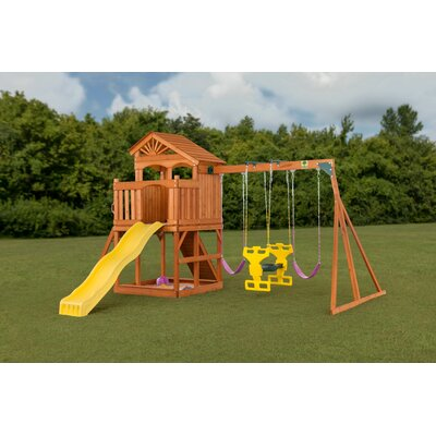 Timber Valley Swing Set CreativeCedarDesigns Color: Pink