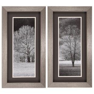 6f3014a62de Black and White Trees 2 Piece Framed Photographic Print Set