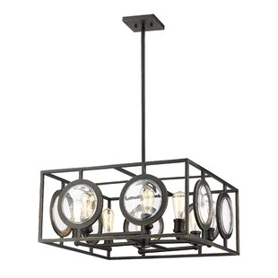 Brayden Studio Silvey 8-Light Square/Rectangle Chandelier