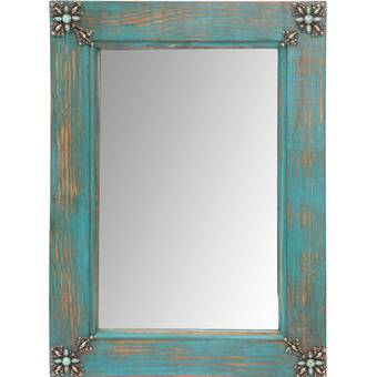 Foundry Select Creek Rustic Distressed Accent Mirror Reviews Wayfair Ca