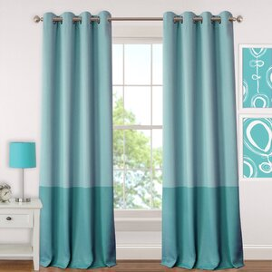Madeline Juvenile Solid Blackout Grommet Single Curtain Panel