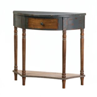 Wyble Wood Half Moon Console Table